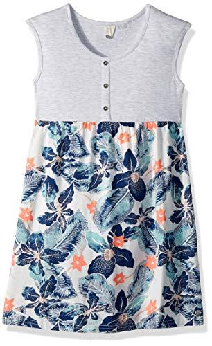 - Roxy Girls' Big Hey Mama Dress, Marshmallow Summer Spirit, 16/XXL