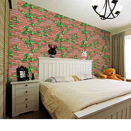 JAAMSO ROYALS Creative Brick Climbing Tiger Plant Wall Stickers Art Wall Decal Wall Decor Indoor (600 X 45 cm)