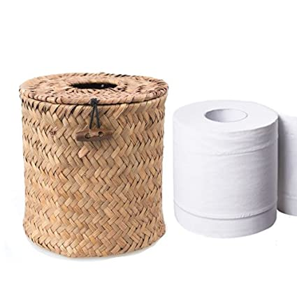 Mar paja rectangular cubierta cartucho de Kleenex dispensador de pañuelos