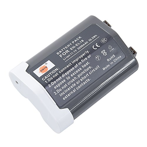 (DSTE EN-EL18 Replacement Li-ion Battery for Nikon D4 D4S D5 Camera D500 D800 D800E D810 D850 Battery Grip)