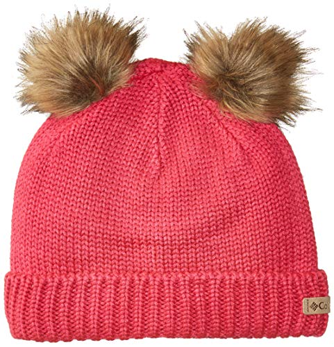 (Columbia Girls' Toddler Snow Problem Beanie, Cactus Pink, One Size)
