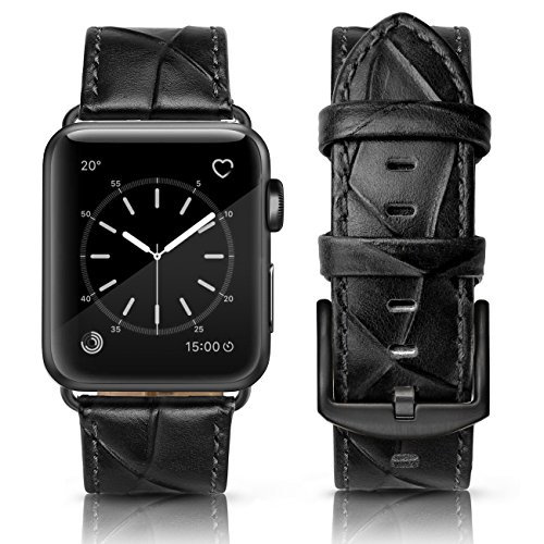 SWEES Genuine Leather Bands Compatible Apple Watch