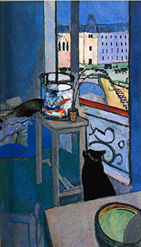 Henri Matisse Goldfish Cat Art Prints, Matted Giclee Parody Artwork By Deborah Julian (5