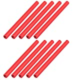 uxcell 10 Pcs M3 x 65mm Round Aluminum Column Alloy Standoff Spacer Stud Fastener for Quadcopter Red
