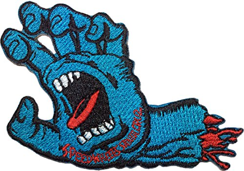 [SpeedWheels Santa Cruz Screaming Hand Skateboard 9 x 6cm Embroidered Iron / Sew On Patch] (Settlers Of Catan Costumes)