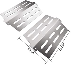 SHINESTAR 65505 Long Lasting Heat Deflectors for Weber Genesis 300 Series, Stainless Steel Replacement Parts 7622