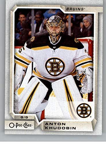 2018-19 OPC O-Pee-Chee Hockey #475 Anton Khudobin Boston Bruins Official 18/19 NHL Trading Card (Card Nhl Bruins Boston)