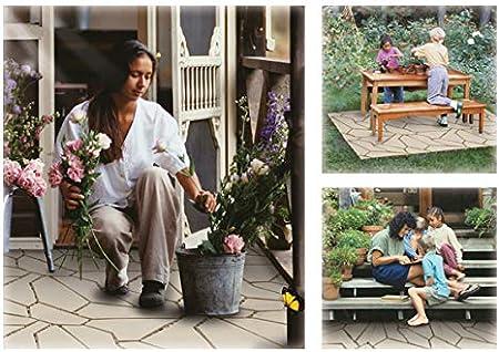 24 Teile, Naturstein Garten /& Terrasse Wetterfester Bodenbelag f/ür Balkon Einfach /& Schnell verlegt UPP Outdoor Gartenplatten Klickfliesen 30 x 30 cm