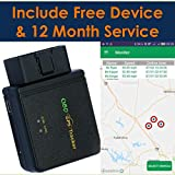 Spectrum Simple: 3G OBD II GPS Tracker, Driving Monitor for Teens Safety, Fleet Tracking Device, Car Tracking, Worldwide Coverage of U.S. Territory, Canada, Mexico, and 120+ Countries, One Month Free