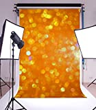 Yeele 5x7ft Photography Backdrop Glitter Granular Dream Color Orange Blurry Seamless Vinyl Background Personal Portrait Studio Props