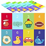 Youngever 80 Disposable Placemats Table Topper, Extra Sticky (4 Sides) Adhesive Peel and Stick Strips Disposable Mats for Kids Toddlers Baby Children, 1812, BPA Free Kids Safe, FDA Approved (Animal)