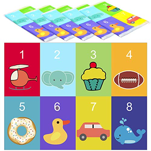 Youngever 80 Disposable Placemats Table Topper, Extra Sticky (4 Sides) Adhesive Peel and Stick Strips Disposable Mats for Kids Toddlers Baby Children, BPA Free Kids Safe, FDA Approved -