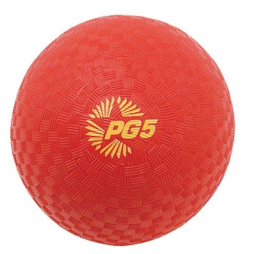 Champion Playground Ball (Champion Sports Playground and Kickball Nylon 5-Inch Red Balls(the ball needs inflation))
