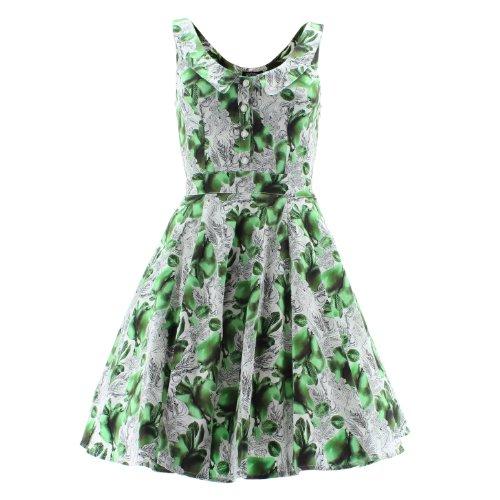 H&R London - Vestido - para mujer blanc-vert