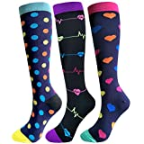Compression Socks for Women & Men-3/6 Pairs Best Graduated Athletic Fit for Running,Nurses,Flight Travel,Pregnancy,Circulation&Recovery - 20-25mmhg