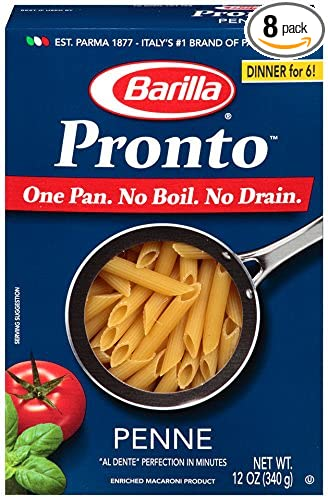 Barilla Pronto Pasta, Penne, 12 Ounce (Pack of 8)