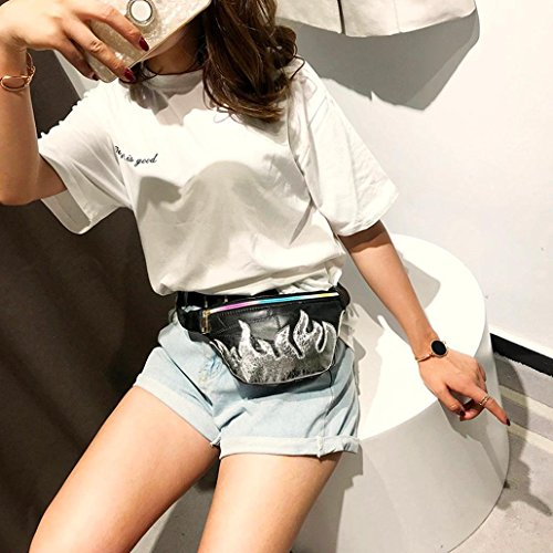 Messenger Chest Bag Waist Women Fashion Bag Bag Vintage Splice Bag Silver Winkey Leather Shoulder wBdqpZxzz
