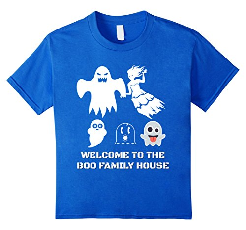 Top 10 Scariest Costumes (Kids Family Couples Scary Halloween costumes BOO ghost T shirt 10 Royal Blue)