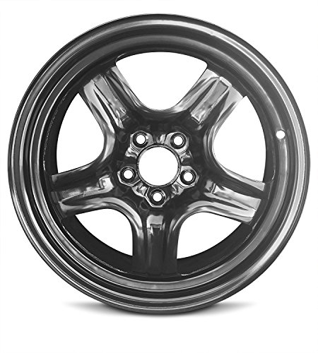 Steel Wheel Rim - New 17x7 Chevrolet Malibu (08-12) Saturn Aura(07-10) Pontiac G6 (07-10) 5 Lug Black Steel Rim Full Size Replacement Steel Wheel