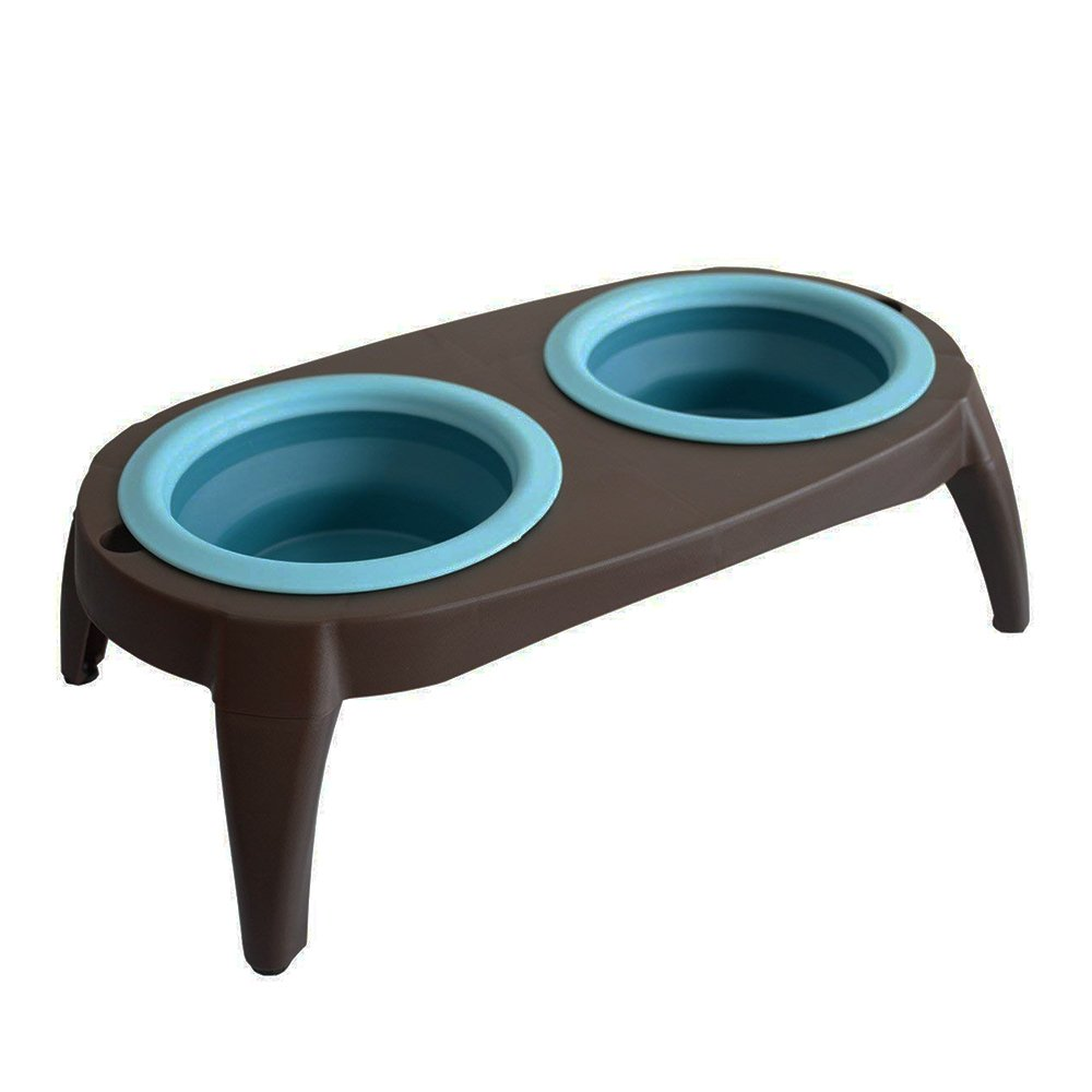 Zoopolr Dog And Cat Bowl Set - Thick & Quality - Raised Stand as Extra Bowls ( For Small/Medium Pets 14 ounces & 7 ounces )
