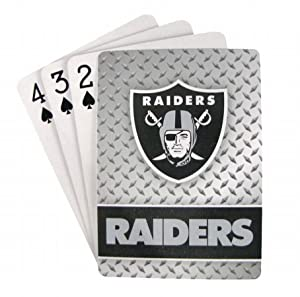 Oakland Raiders Diamond Plate Playing Cards