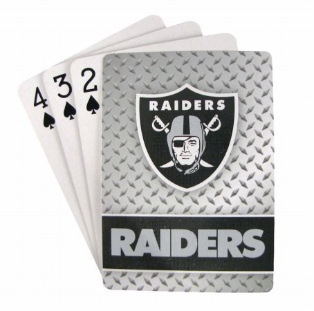 Oakland Raiders Diamond Plate Playing Cards at Steeler Mania