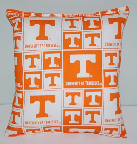 """University Tennessee Pillow Football Pillow UT Pillow NCAA HANDMADE In USA Pillow is approximately 10"""" X 11"""
