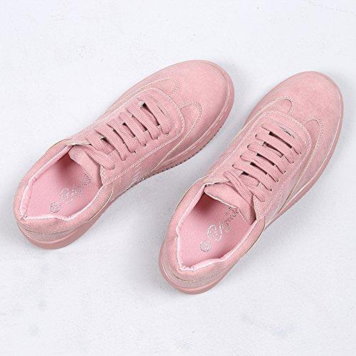 La Gruesa Correa Ocasionales amp;G NGRDX Pink Blancos Casuales Calzan Femeninos Los Los Blancos Inferior Zapatos Deportes De Solo De Femeninos Zapatos WwSAwYqz4