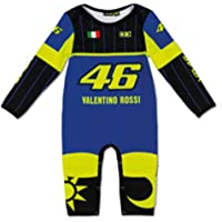 Valentino Rossi VR46 Moto GP Azul Yamaha Baby Grow Oficialmente Combinado Oficialmente 2020
