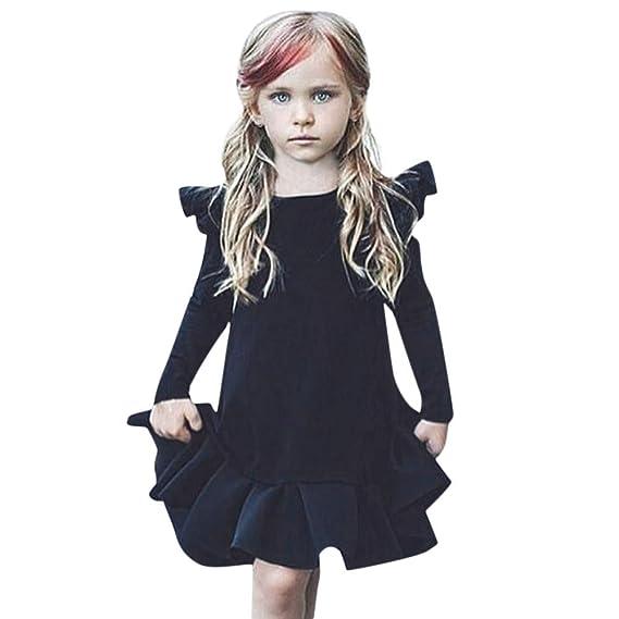 Amlaiworld Vestidos niñas, Vestido Infantil de Princesa con Volantes de Manga Larga para niñas bebés