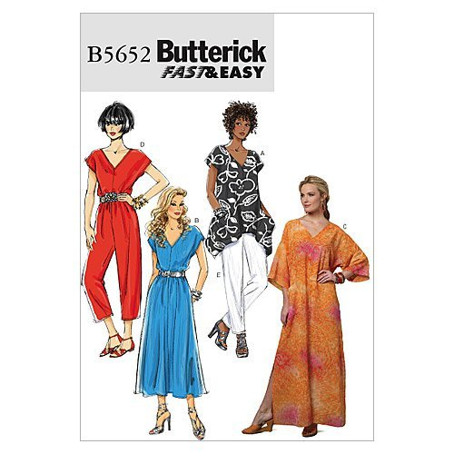 BUTTERICK PATTERNS B5652 Misses' Top, Dress, Caftan, Jumpsuit and Pants, Size ZZ (LRG-XLG-XXL) ()