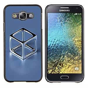 EJOOY---Cubierta de la caja de protección para la piel dura ** Samsung Galaxy E5 E500 ** --Cromo Cube
