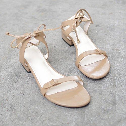 Caqui Romana Hadas Planos Salvaje de de 38 Correa Zapatos Zapatos Cinta Atado DIDIDD tqP4Hv
