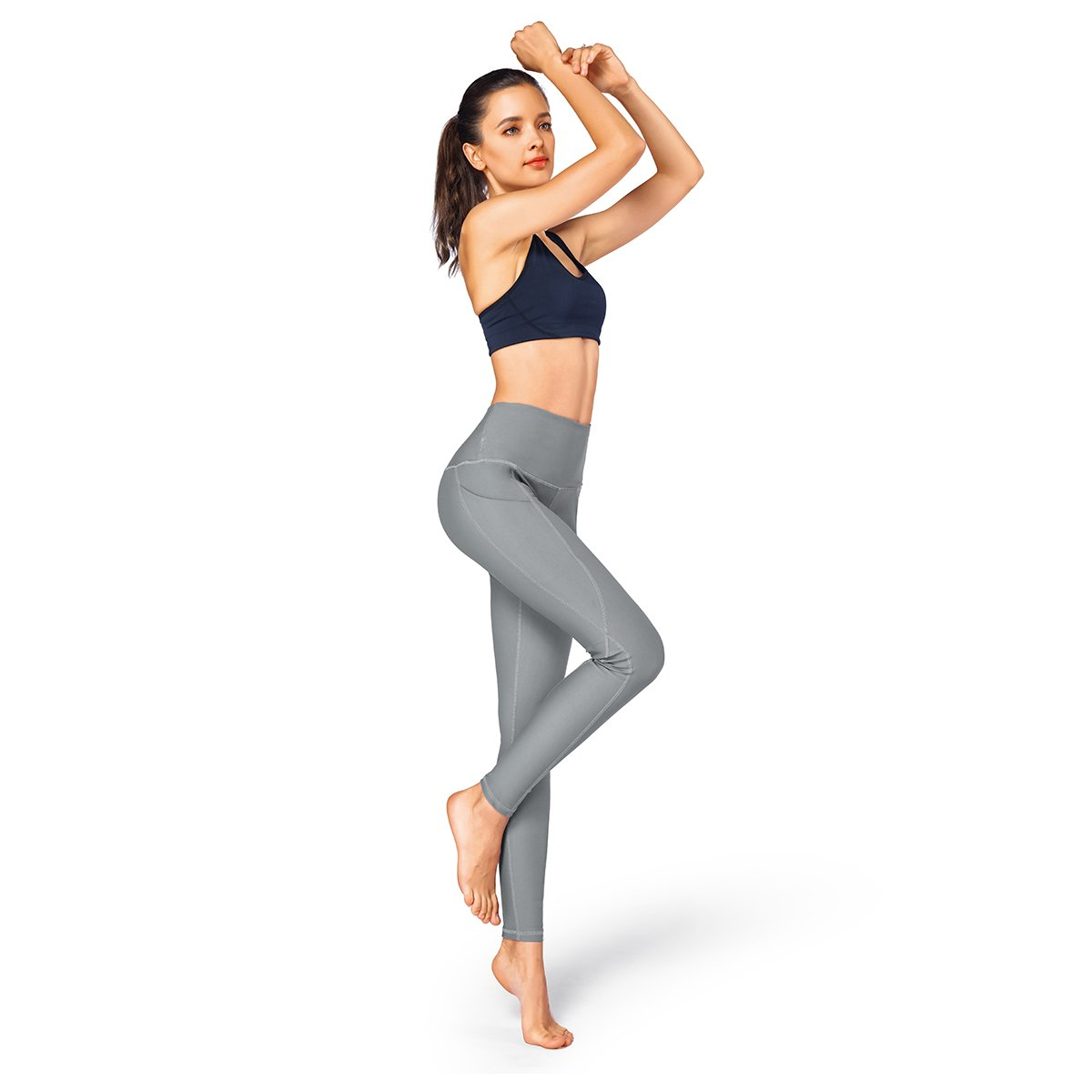 9a5e6dba1f573 Occffy High Waist Out Pocket Yoga Pants for Women Tummy Control Workout  Clothes Ladies Leggings [1541650425-297413] - $8.57