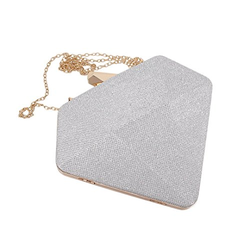 Hardbox Bridal Purse Evening Shoulder Liliam Prom Women Silver2 Ladies Handbag Clutch Party Fashionable xPqxXASwf