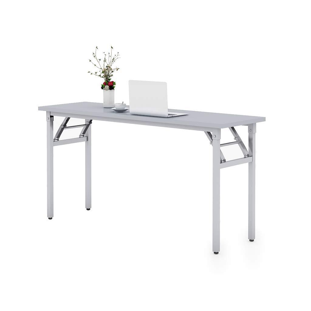 Sunon Folding Training Table 59'' Rectangle Wood Folding Table for Training/Meeting Room (White, 59-Inch Length)