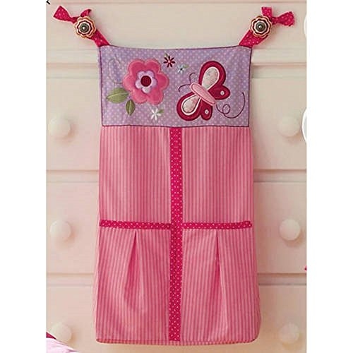 Butterfly Blossoms Girls Baby Diaper Stacker Pink Flowers - Baby Diaper Stacker