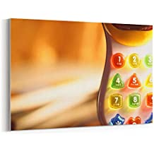 Westlake Art Latters Numbers - Canvas Print Wall Art - By Canvas Stretched Gallery Wrap Modern Picture Photography Artwork - Ready to Hang 12x18 Inch (a1711z)