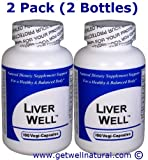 Liver Well (100 Capsules) ''2 BOTTLE PACK''- Concentrated Herbal Blend - Dietary Supplement