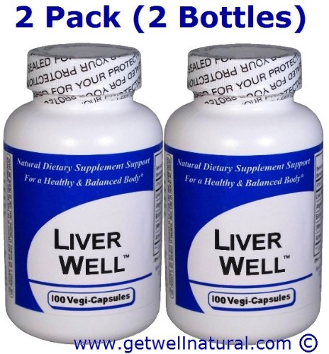 Liver Well (100 Capsules) ''2 BOTTLE PACK''- Concentrated Herbal Blend - Dietary Supplement by Get Well Natural, LLC