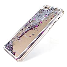 Quicksand Cellphone Shell - SODIAL(R) Luxury Transparent Liquid Quicksand Shiny Glitter Star Case for iPhone 5c Silver