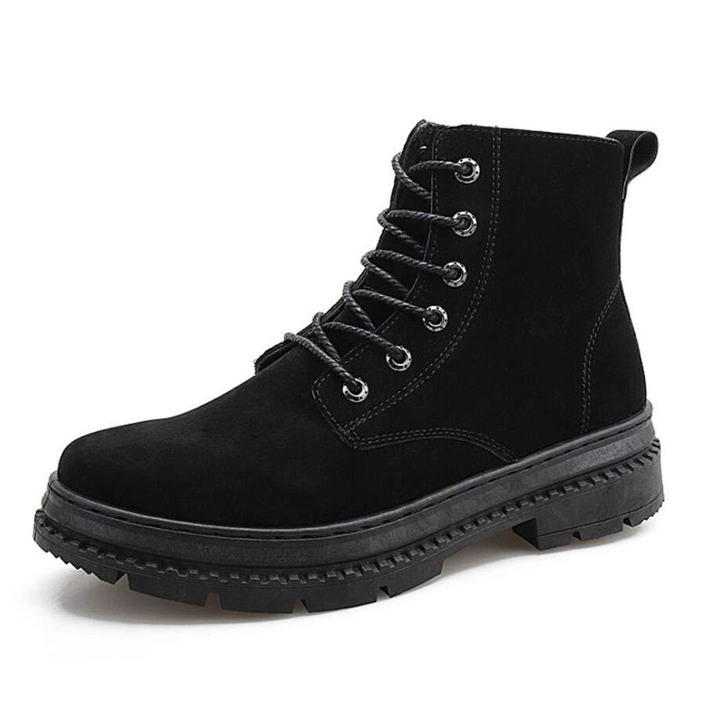 Zxcvb Herren High-Top-Arbeitsschuhe Mode lässig Schnürschuhe schwarz braun