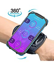 TEUMI Running Phone Holder, 360 ° Rotation Phone Wristband, Forearm Armband for Jogging Hiking Gym Workout, compatiable with iPhone 12 Pro/12/11/XS/XR/X, Samsung Galaxy S20/S10, All 4.0-6.7 Phone