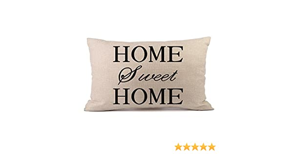 Newest Arrivals! Throw Pillow Covers, E-Scenery Home Sweet Home Rectangular Decorative Pillow Cases Cushion Cover Pillowcases, Sofa Bedroom Car Home ...