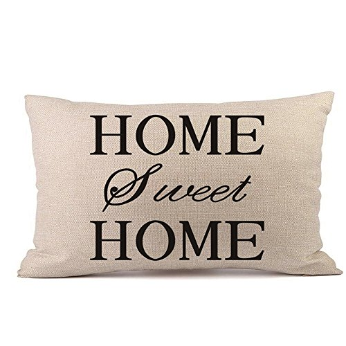 (Newest Arrivals! Throw Pillow Covers, E-Scenery Home Sweet Home Rectangular Decorative Pillow Cases Cushion Cover Pillowcases, Sofa Bedroom Car Home Decor, 12 x 20 Inch / 30 x 50)