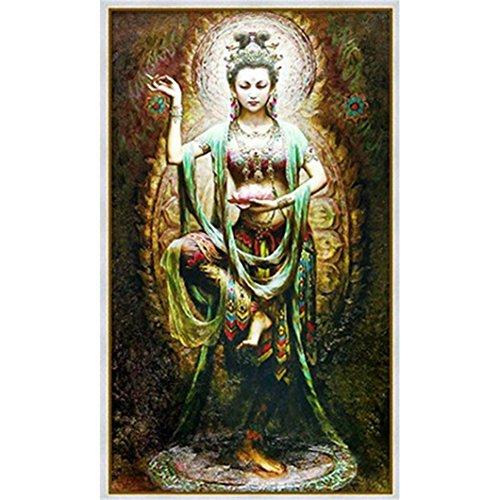 Mazixun Diamond Embroidery Buddhism Goddess 5D Diamond Painting Cross Stitch 3D Diamond Mosaic Decoration Christmas by Mazixun