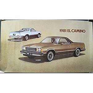1981 Chevrolet El Camino & SS Showroom Poster