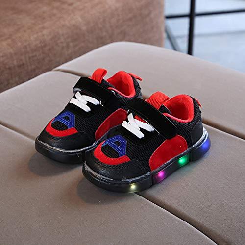 FELZ Zapatos Bebe Primeros Pasos Zapatos LED Unisex Calzado Deportivo Luces Zapatos Iluminados Antideslizante Zapatos Antideslizante Bebe Ni/ña Suave Sandalias de Deporte Al Aire Libre