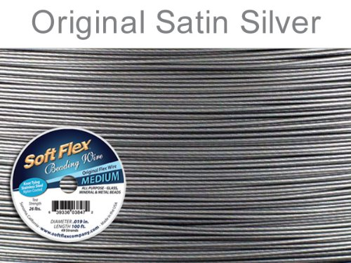 100ft Clear Silver Satin - 6