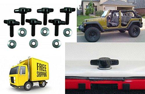 Hard Top Quick Removal Screw Fastener Change Kit set Knobs For Jeep Wrangler CJ YJ TJ JK Universal